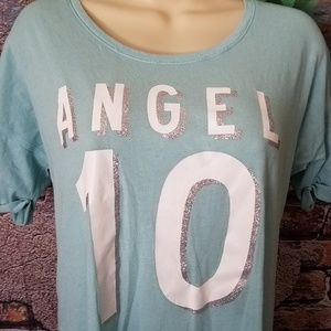 Light Blue Short Sleeve Metallic Night Shirt